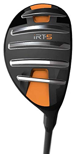 "iRT-5 Hybrid – Fairway Golf Club for Men & Women – Unique ""Machete Rails"" Cut Through Grass Effortlessly for High, Long Approach Shots"