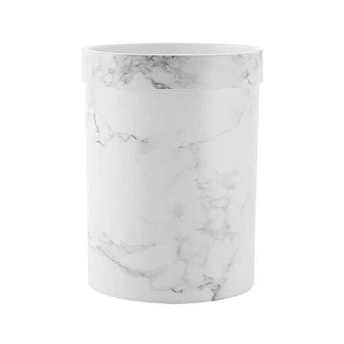 1yess Mülltonne aus Papierkorb Mülleimer Haushalt großartige einfache langlebige Room Schlafzimmer Badezimmer küche großer Mund sanitär Eimer Abfallbehälter (Farbe: weiß, Größe: 7L)