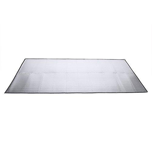Yosoo - Alfombra de suelo para tienda de campaña (aluminio, goma EVA, antihumedad, tamaños: 1x 2m/1,5x 2m/2x 2m)