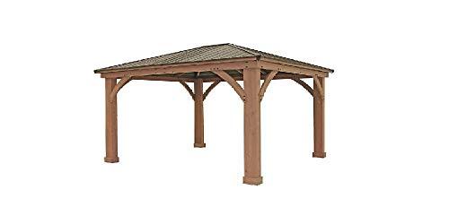 12' x 14' Cedar Gazebo With Aluminum Roof