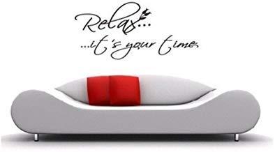 Pegatinas de pared de vinilo para decoración del hogar, pegatinas de pared Relax It's Your Time Cotizaciones de baño