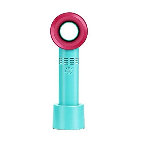 CGGA Mini Ventilador de pestañas USB Aire Acondicionado Soplador Pegamento Injerto Pestañas Dedicado Secador Ajustable Velocidad de Viento Portátil Ventiladores sin Hojas (Color : Blue)