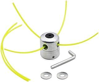 Poweka Cabezal Multihilo Aluminio,Cabezal Universal Cabeza Césped Cortacésped Accesorios para M8 M10 Cortacésped
