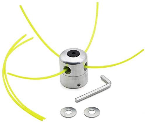 Poweka Cabezal Multihilo Aluminio para Desbrozadora,Cabezal Universal Desbrozadora Cabeza Césped Cortacésped Accesorios para M8 M10 Cortacésped Desbrozadora