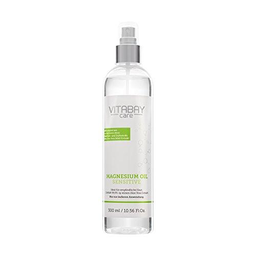 Original Zechstein Magnesium Öl Sensitive - Magnesiumchlorid Spray mit 99,9{ac613473f4d4f33844c5c6140b2982be80563ce67c706fbc071ae8b5e2b7862c} Aloe Vera - 300 ml
