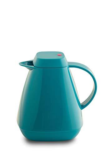 ROTPUNKT Isolierkanne 650 LIEKE 1,0 l   Zweifunktions-Drehverschluss   BPA-frei - gesundes Trinken   Made in Germany   Warm + Kalthaltung   Glaseinsatz   Vivid Petrol