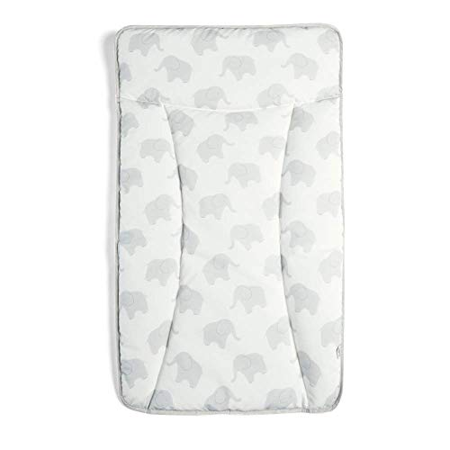 Mamas & Papas Essential PVC Wipe Clean Nappy Baby Changing Mattress - Elephant Family, 500 g, 4155KG000