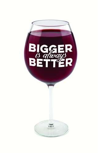 BigMouth Inc Gigantische 'groter is altijd beter' Wijnglas (biedt plaats voor een VOLLEDIGE fles)
