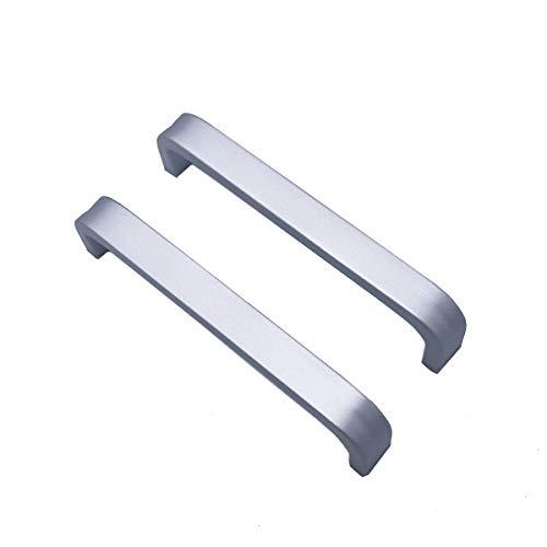 2x Qrity Tiradores de las puertas del armario de la cocina armario ropero tire del cajón, Aluminio, con tornillos (96MM)