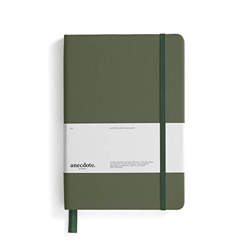 The Anecdote Daily Planner 2021. A Daily, Weekly & Monthly Planner. Achieve Your Goals. Establish Yearly, Monthly, Weekly & Daily Workflow, A5 size, Hardcover Daily Planner. Start Anytime. -Evergreen
