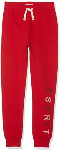 ESPRIT KIDS Jungen Knit Pants Perm Sporthose, Rot (Red 375), (Herstellergröße: 128+)