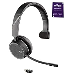 COMPATIBILITY: The Voyager 4210 is a Bluetooth headset. WILL NOT WORK WITH DESK PHONE. CRYSTAL CLEAR AUDIO: Wideband audio and noise canceling microphone allows you to hear and be heard crystl clear SEAMLESS CONNECTIVITY: The Plantronics Voyager 4210...