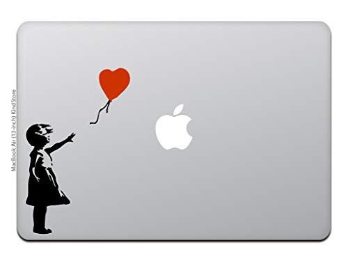 カインドストアMacBookAir/Pro11/13インチマックブックステッカーシール赤い風船に手を伸ばす少女バンクシーTHEGIRLWITHREDBALLOONBANKSYブラックM847-B