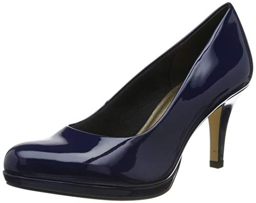 Tamaris Damen 1-1-22444-23 836 Pumps, Blau (Deep Blue Pat. 836), 39 EU