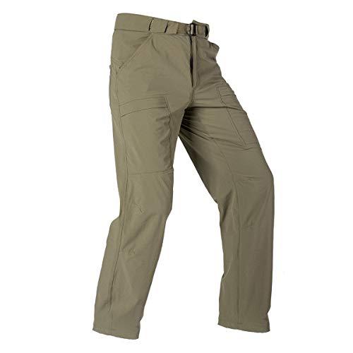FREE SOLDIER Men's Outdoor Cargo Hiking Pants with Belt Lightweight Waterproof Quick Dry Tactical Pants Nylon Spandex...