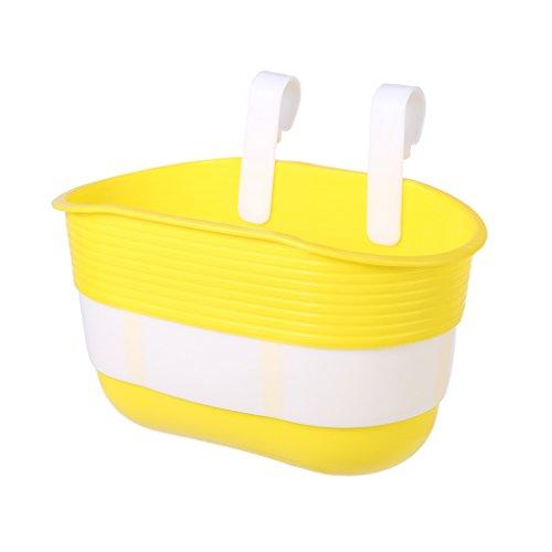 ranuw Fahrradkorb Kinder Bike Kunststoff zum Aufhängen Vorderseite Lenker Carrier Satteltasche, gelb