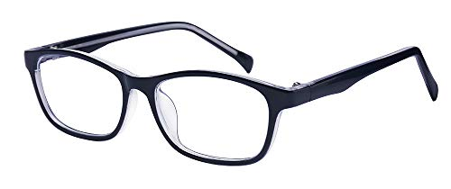 ALWAYSUV Kids Teens Blaulicht-Schutzbrille mit Blendschutz, UV400-Transparentlinse, Computer-Lesebrille Schwarz