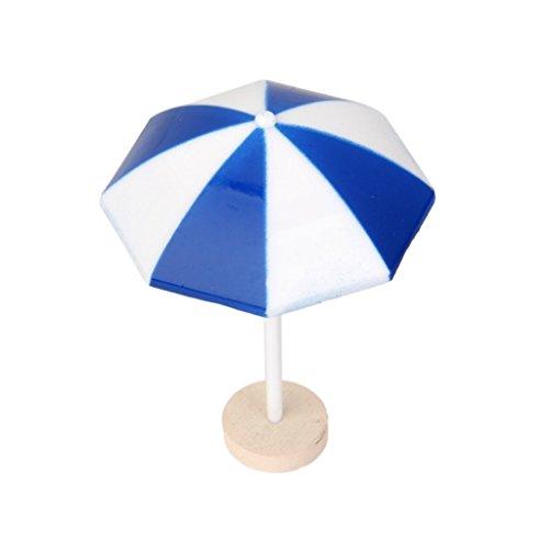 luoem Strand Sonnenschirm Mini Regenschirm Landschaft Bonsai Puppenhaus Craft Decor Blau