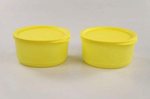 TUPPERWARE Kühlschrank Geburtstagskracher rund 530 ml gelb (2) Frischebehälter