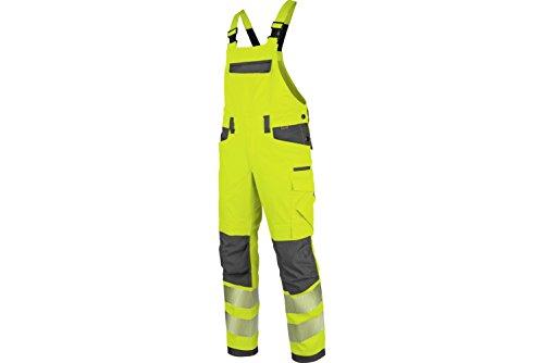 WÜRTH MODYF Warnschutz Arbeitslatzhose Neon EN 20471 2 gelb anthrazit: Die zertifizierte Latzhose aus der German Design Award Winner Kollektion 2019.