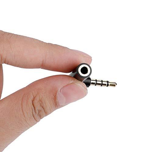Emoshayoga Adaptador Jack de 3,5 mm Macho a Hembra para Audio