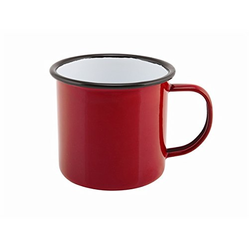 Genware nev-50018red Emaille Tasse, 36 cl/12,5 oz, rot