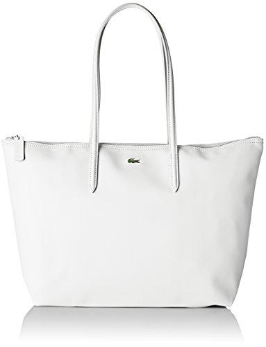 Lacoste NF1888PO, Sac bandouliere Femme, Bright White, 29.5 x 14 x 35 cm