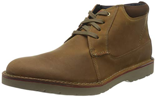 Clarks Herren Vargo Mid Derbys, Braun (Dark Tan Leather), 44 EU