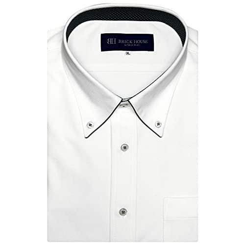 ブリックハウス ワイシャツ 半袖 形態安定 ビズポロ ニットシャツ BD 3L・4L メンズ BM011201AM43B3N-90 ホワイト 3L