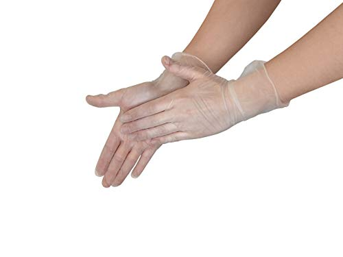Vidima Vinyl Einmalhandschuhe 100 Stück Vinyl Handschuhe Größe L | Vinylhandschuhe puderfrei günstig Allergiker geeignet | Einweghandschuhe latexfrei von Vidima