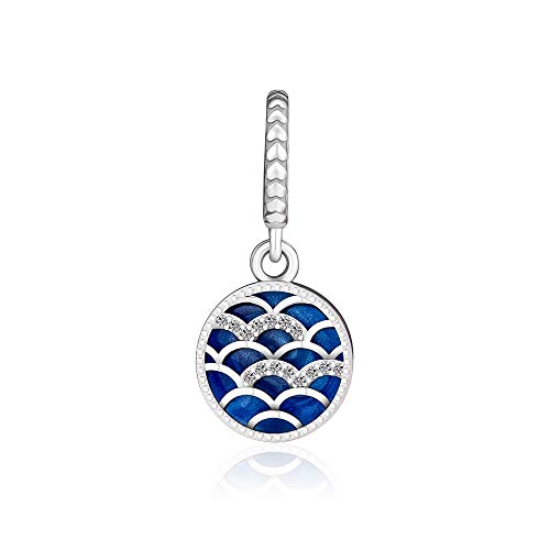 LILIANG DIY Se Adapta A Pandora Charm Bracelet Calado True ARC Bead con Esmalte Azul para Mujeres 925 Cuentas De Metal De Plata Esterlina Fabricación De Joyas