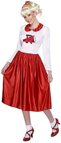 Smiffy's Smiffys- Licenciado Oficialmente Disfraz de Sandy de Grease, Rojo y Blanco, con Vestido, Color, M - EU Tamaño 40-42 29797