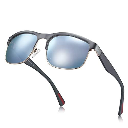 Carfia Gafas de sol polarizadas hombres, mujeres, protección UV, conducción, ciclismo, gafas de sol