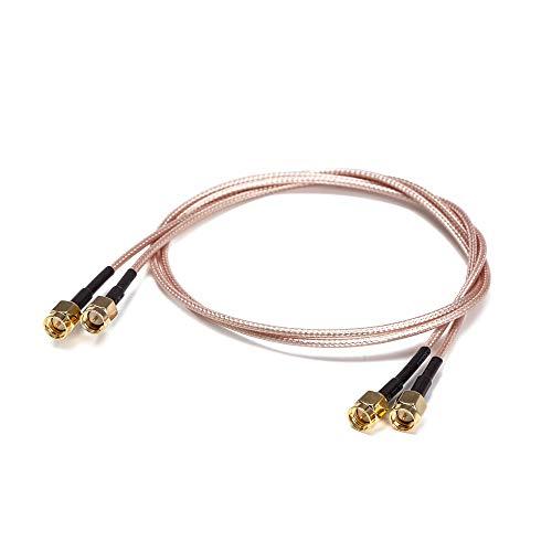 Cable coaxial SMA macho a macho, 3 pies Rg316 HF, baja pérdida, cable de extensión de antena, puente adaptador
