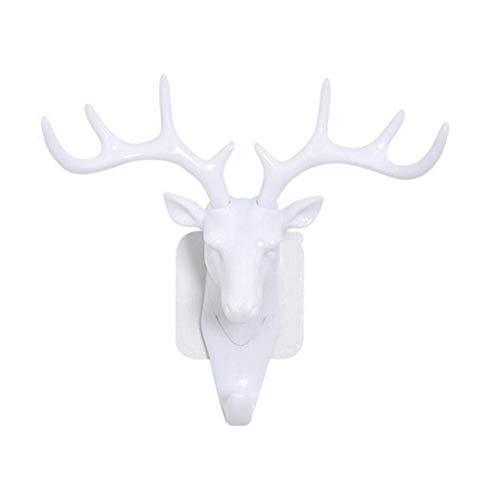 Pequeño estante de pared de plástico para sala de estar Sombrero Bolso Key Jewelry Rack Deer Head Decor Organizador de gancho (Color : No.2)
