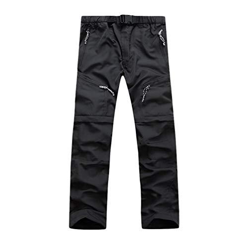 YiLianDaD Pantalones y Pantalones Cortos Desmontables de Secado Rápido Unisex Trouser Transpirables Multifuncionales