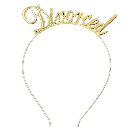 niumanery Metal Headband Funny Divorced Letters Tiara Hair Hoop Single Women Break up Gift Gold