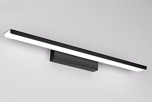 SJUN Spiegel-Leuchten Led Lampe Bad Lampe Bad Lampe Schlanke, Minimalistische Spiegel Schrank Licht Ideen Aluminium Spiegel,41Cm Schwarz/Warmes Licht
