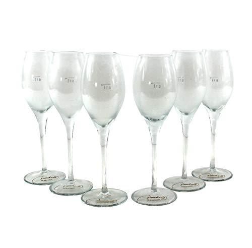 Deinhard Gläser 6x0,1l geeicht Sekt-Glas MUNDGEBLASEN Rarität mn114 7f2r