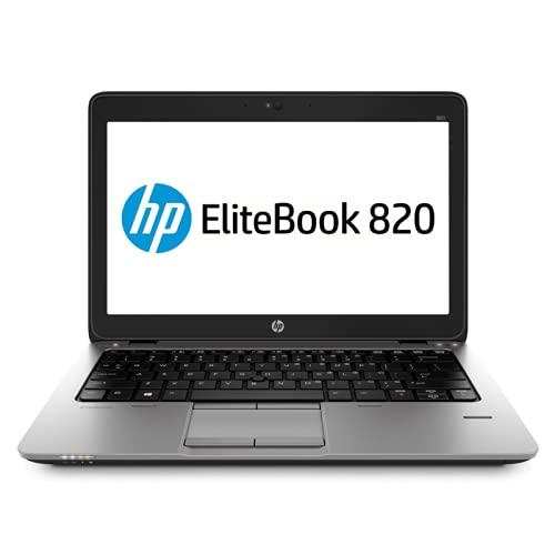 HP EliteBook 820 G1 - PC portátil - 12.5 '' - (Core i5-4300U / 1.9 GHz, 8GB RAM, SSD 128GB SSD, WiFi, Windows 10, Teclado QWERTY) Modelo Muy rápido (Reacondicionado)