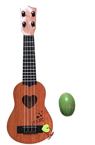 SWANBELLE おもちゃ ウクレレ 子供用 ミニギター 撮影小物 エッグシェイカー 4弦 (ブラウン, 39�p)