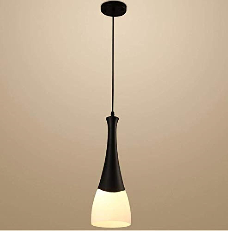 Lampe schwarz + Weiß Chandelier Round Glass Iron Elegante Dekoration
