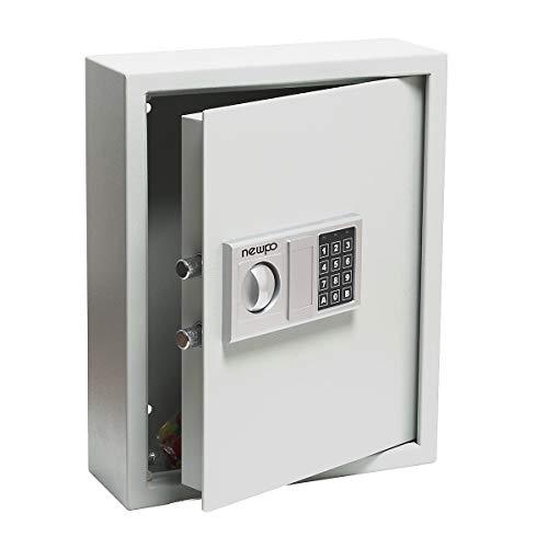newpo Schlüsselschrank mit Zahlencode | Platz für 71 Schlüssel | Safe Schlüsseltresor Tresor Schlüsselbox Schlüsselkasten Wandmontage
