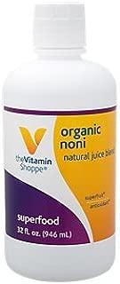 Organic Noni Natural Juice Blend, Exotic Super Fruit Tropical Noni Fruit (or Morinda Citrifolia) Supports Immune Health (32 Fl Oz.) by The Vitamin Shoppe