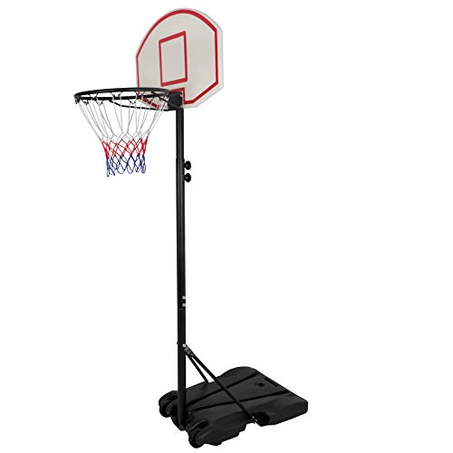ZENY Portable Basketball Hoop Backboard System Stand and Rim for Kids Youth w/ Wheels Adjustable Height 5.4ft - 7ft Indoor Outdoor Basketball Goal Game Play Set