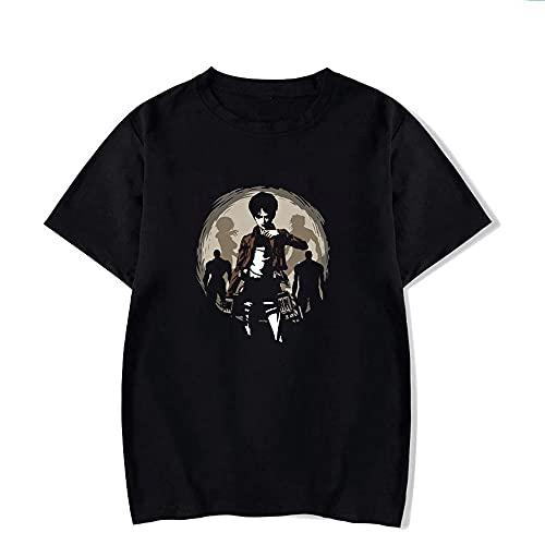 LYANXI Camiseta para Hombre De Verano Cuello Redondo Camisa Ataque En Titan 3D Impresión 3D Camisetas Unisex Camisetas Casual De Manga Corta Sudadera Workwear Uniform Top -Youth Regalo B-S