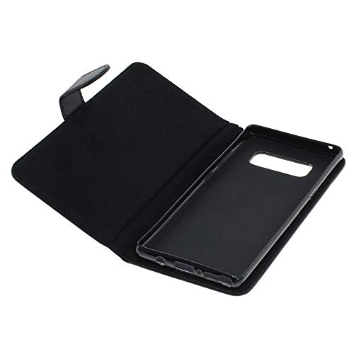 Mobilfunk Krause - Book Hülle Etui Handytasche Tasche Hülle für Samsung SM-N950F / N950F (Schwarz)