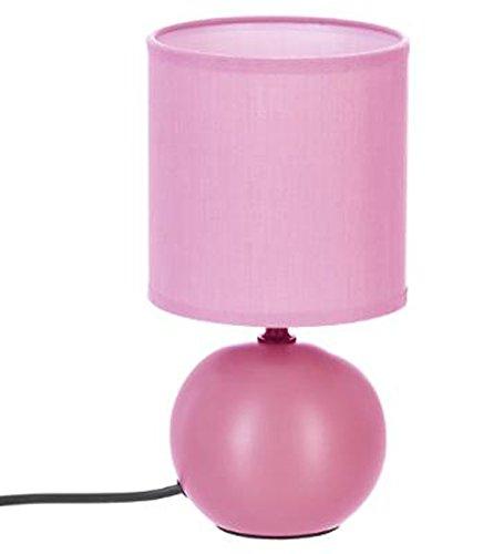 PEGANE Lampe à Poser en céramique Finition Rose Mate - Dim : D 13 x H 25 cm