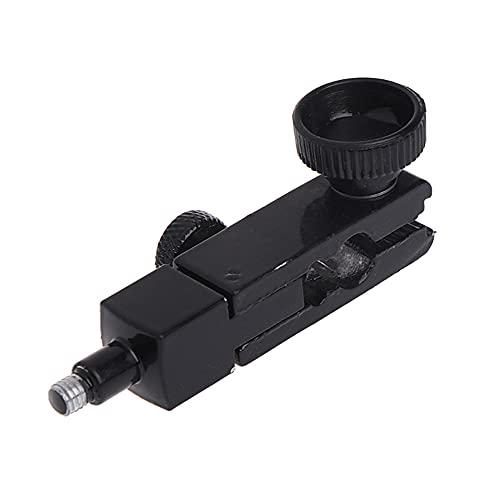 Joliy Metal cardán Negro Ajustable Giratorio Base magnética Soporte Palanca indicador de dial Accesorios de Pieza 12,1x66,3mm