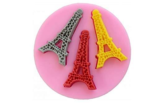 Silikonform Backform Eiffelturm Paris Spitze Seifenform Fondant Torten Tortendekoration Kuchendekoration Kuchen Backzubehör Dekorieren Verzierung Schmücken Basteln Randdeko Silicon Mold Neu